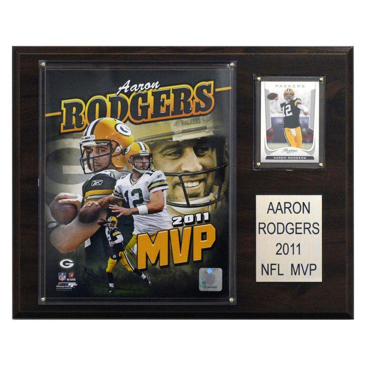 NFL 12 x 15 in. Aaron Rodgers 2011 NFL MVP Green Bay Packers Player Plaque - 1215RODG11MVP