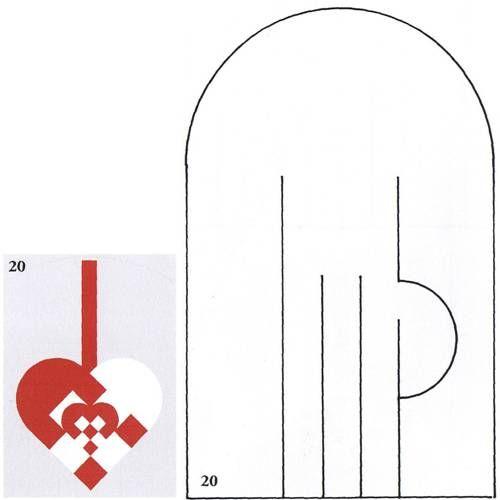 template to make Swedish heart ornament ... Flettehjerter - Sådan fletter du julehjerter. Masser af skabeloner