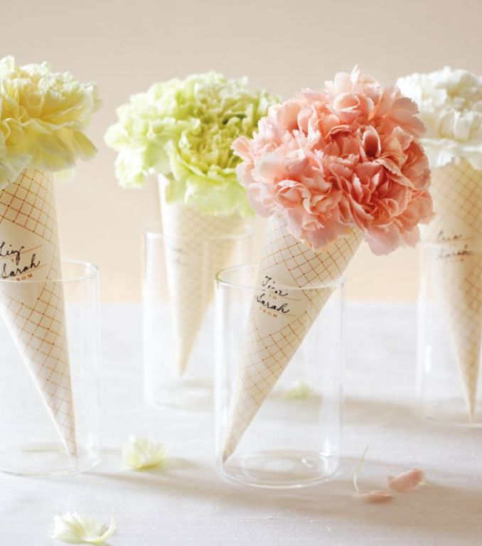 Love this Valentine's Day craft idea to make mini carnation bouquets into ice cream shaped cones to give out to friends in your kids class, or simply something fun to do at home for each other. Plus, you can download the printable for free, keep reading to find out where to get the template and directions!      You can get the down loadable temple and directions here at Martha Stewart