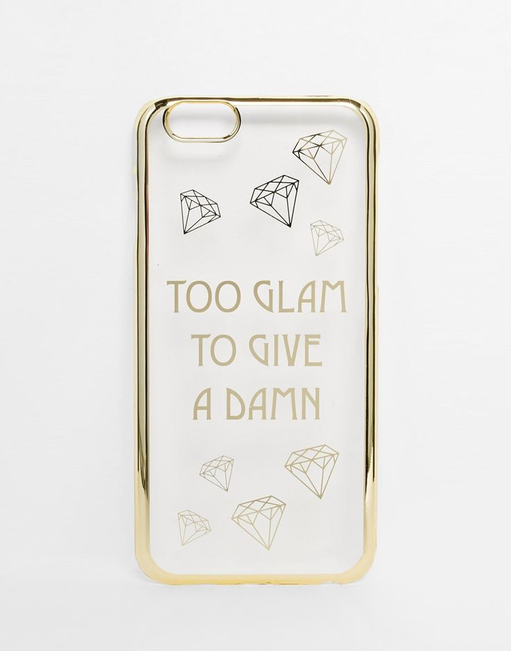 Darn right.  ASOS Too Glam To Give A Damn iPhone Case