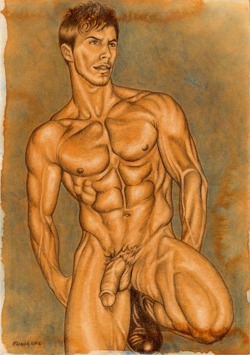 Gay men nude erotic art