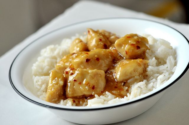 Pei wei Honey Seared Chicken Recipe!  I LOVE this stuff and so do the kids!  :)  We called it Pooh Bear's Chicken when they were little.