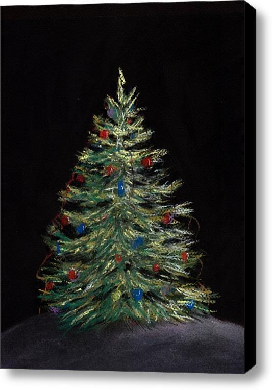 Christmas Paintings On Canvas | Christmas Eve Stretched Canvas Print / Canvas Art By Anastasiya ...