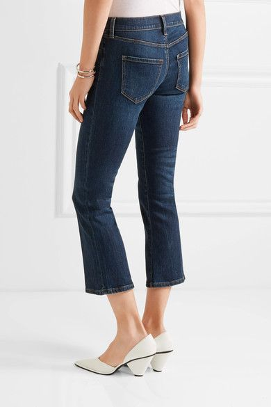 J Brand - Selena Cropped Mid-rise Bootcut Jeans - Mid denim - 30