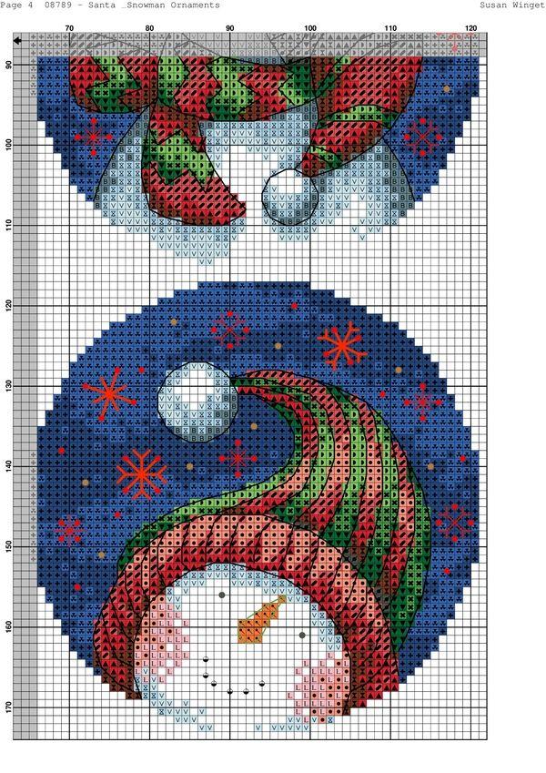 Santa & Snowman Ornaments-004