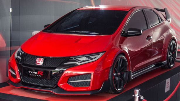 First UK appearance for the new Civic Type-R concept. It's got some catching up to do on the FWD 'Ring record...
