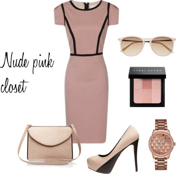 Nude pink closet