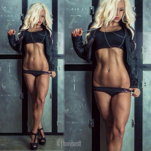 Ripped Fitness Model Hunnybunsfit aka Jen Heward's Best 44 Pics!