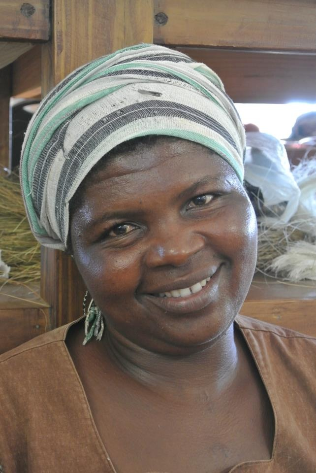"""Meet Tholakele Gina, 40 years old from Lavumisa: """"I started working with Gone Rural in 2005, weaving Lavumisa-style baskets. I was doing handcraft before, but since I joined #GoneRural there is a big difference. I can see the progress in my financial life & in my weaving skills. Life used to be hard because I am the third wife of my husband & he has never been able to cater for us all equally. Gone Rural has given me the opportunity to be independent."""""""