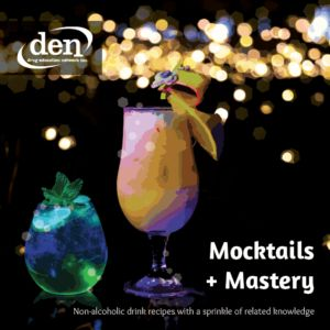 Mocktails + Mastery is a recipe book of non-alcoholic drinks. It is not, however, your standard recipe book.    The book challenges Australian drinking culture and encourages the use of non-alcoholic beverages when celebrating, so that everyone can be included.