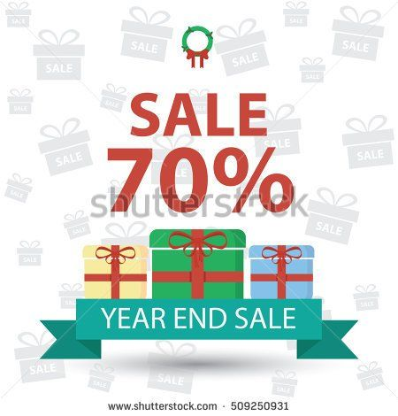 discount  year end sale vector illustration