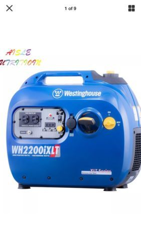 Westinghouse WH2200iXLT Portable Inverter Generator - 1800 Running Watts and...