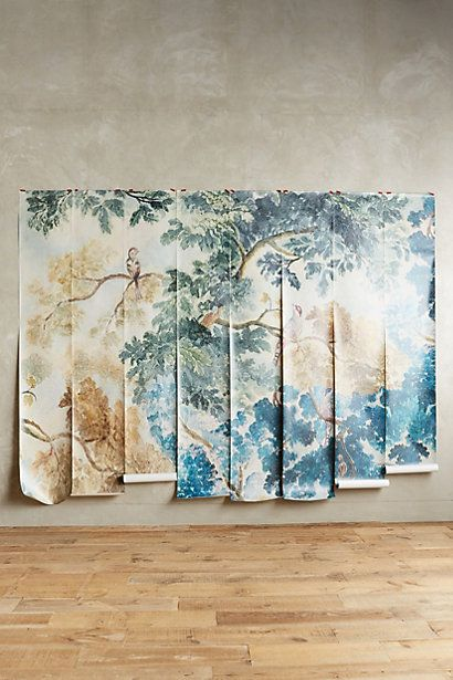 Judarn mural master bedrooms the o 39 jays and paper for Anthropologie wallpaper mural