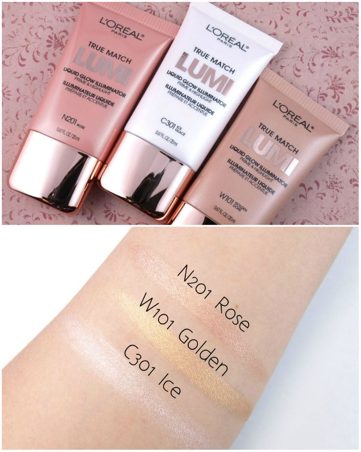 L'Oreal True Match Lumi Liquid Glow Illuminator Prime & Highlight: Review and Swatches