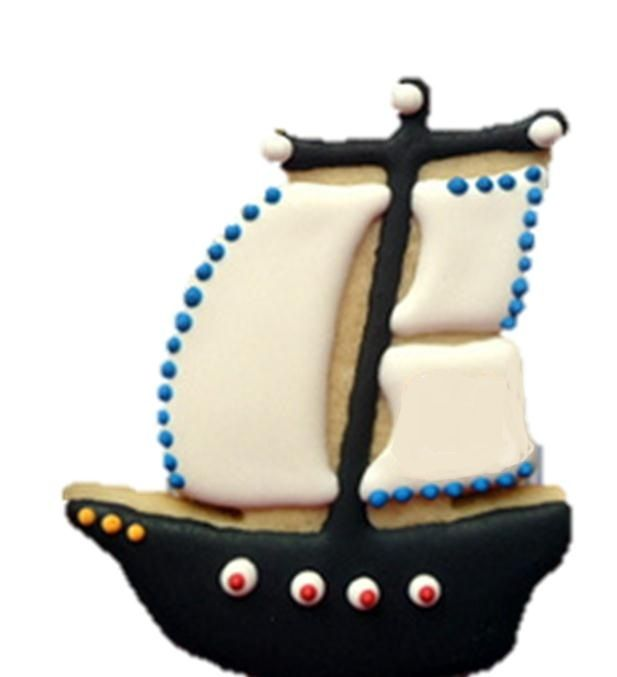 """Party Favor Cookies - 5"""" Pirate Ship"""