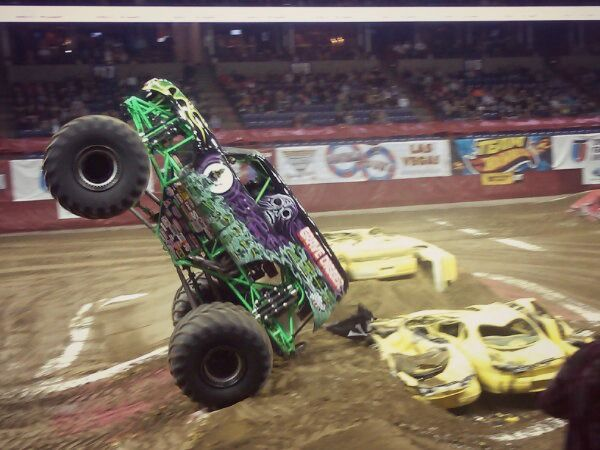 Monster Jam - Grave Digger, a great family fun night out idea.