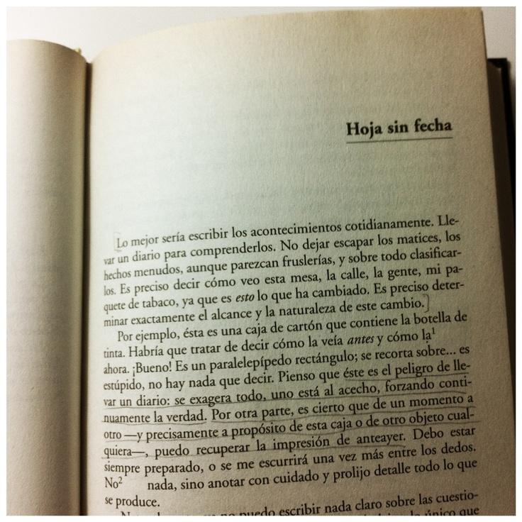 'La náusea', Sartre.