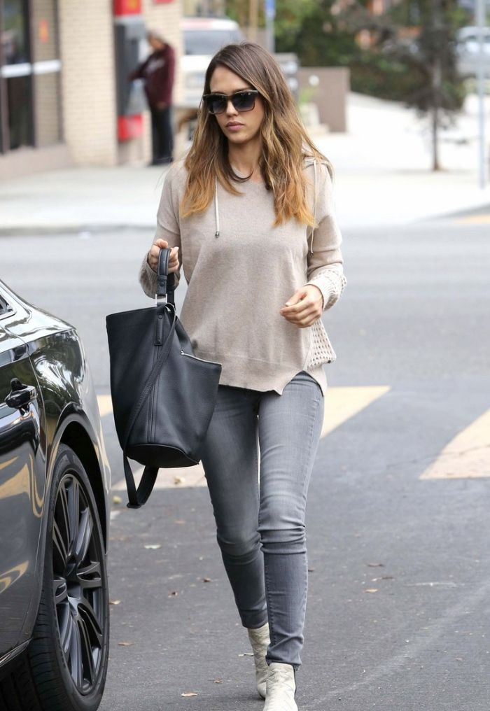 Jessica Alba in Black Orchid Jeans - http://denimology.com/2014/11/jessica-alba-in-black-orchid-jeans