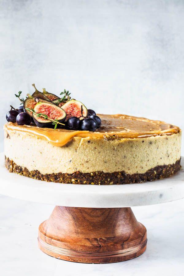 Fig And Pistachio Vegan Cheesecake Recipe Vegan Cheesecake Recipe Vegan Pistachio Cake Vegan Cheesecake
