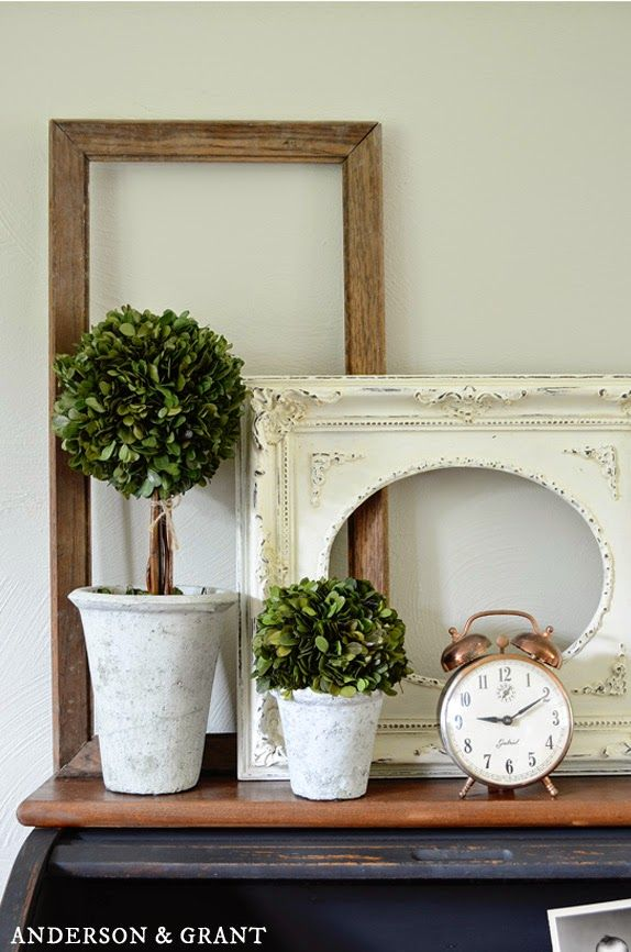 Decorating with Empty Thrift Store Frames