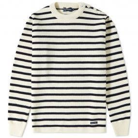 Firmly built on a reputation of high quality products, the Armor-Lux label is still based and made in the French region of Brittany, where they were originally established in 1938. Boasting a range of jumpers and t-shirts in the only real, authentic Breton Stripe available, the signature pattern remains a core piece in the collection. Expertly knit in a satisfying 1x1 rib, this 100% wool jumper is finished with a classic button closed shoulder. 100% Wool Stripe Design Button Closed Shoulder…