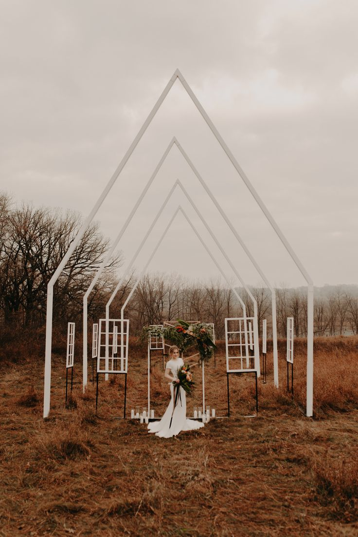 Image 11 - Modern Wedding Inspiration in this Open Air Chapel! in Styled Shoots.