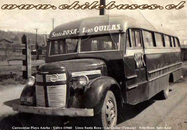 Carrocerias Playa Ancha - Volvo (1946) | Linea Santa Rosa - Las Quilas (Temuco)