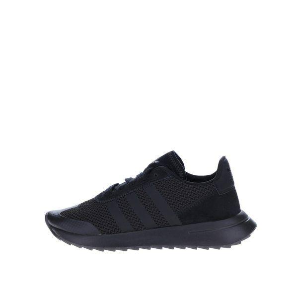 Pantofi sport negri de dama - adidas Originals Flashback - - varf rotunjit - inchidere cu sireturi- realizati din material adidas Primeknit in partea din fata- brant cu perna EVO- sockliner cu tehologie Ortholite, pentru un plus de confort- logo - talpa din cauciuc rezistentMaterial:exterior - textil, piele