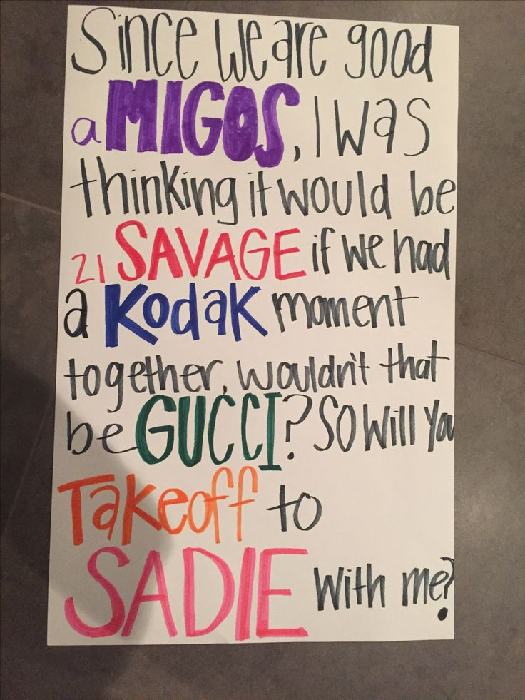 Rapper names Sadie Hawkins ask idea