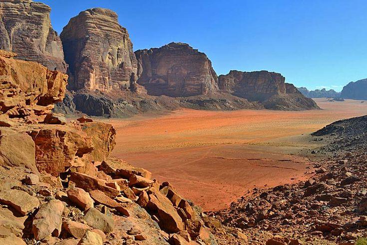 Desert on the valley floor, Wadi Rum | Top places to visit in #Jordan | Weather2Travel.com #travel