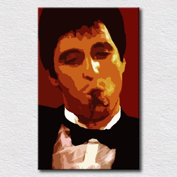 Фильмы плакат Scarface картина маслом для спальня стена украшение стена завесы фотографии картина на холсте