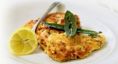 Simon Gault's Pork Schnitzel with Sage & Parmesan Crust