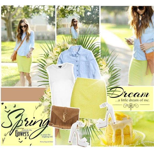 Spring <3 by nina1596 on Polyvore featuring Topshop, H&M, Forever New, Yves Saint Laurent, Jayson Home, Love Quotes Scarves and Betty Crocker