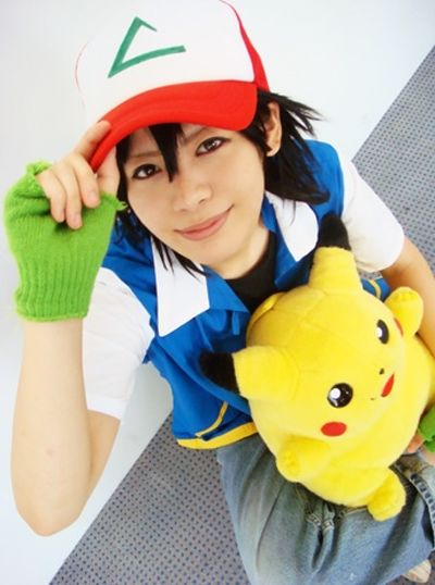 Ash from Pokemon and pikachu
