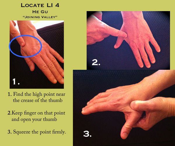 LI 4 is used to relieve headaches, toothaches, and relieve ...