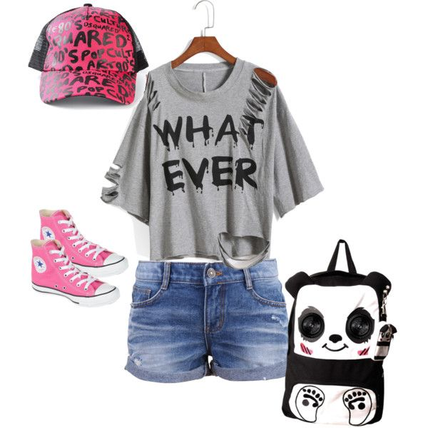 cool fashion by pinkmitta on Polyvore featuring polyvore fashion style Converse Dsquared2