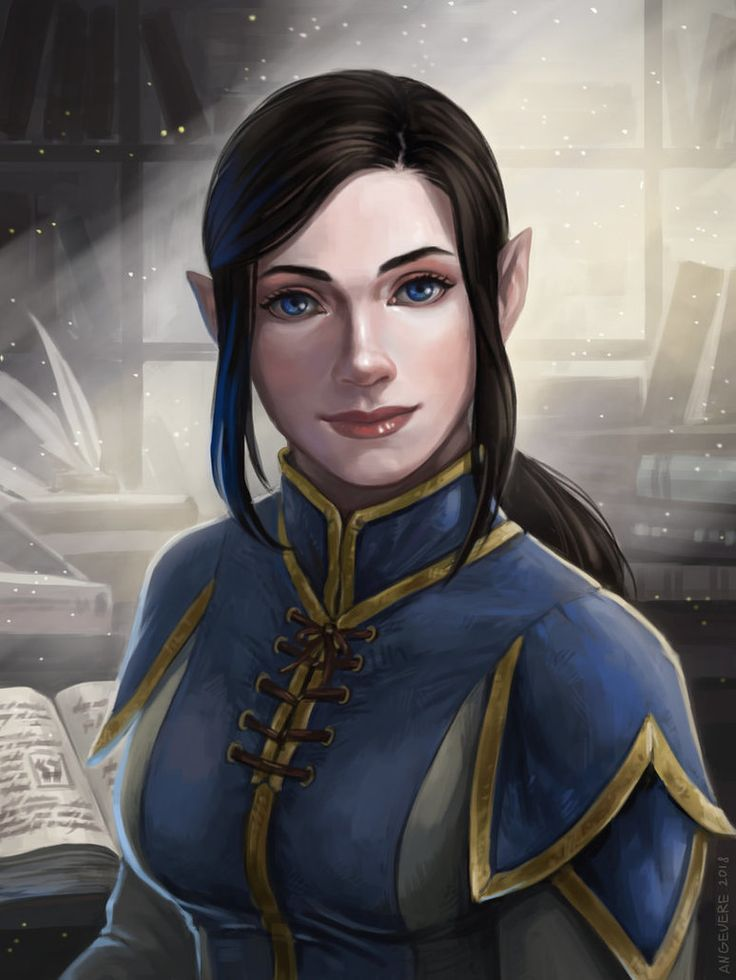 Portrait commission of a WoW character Cassandra Redwood
