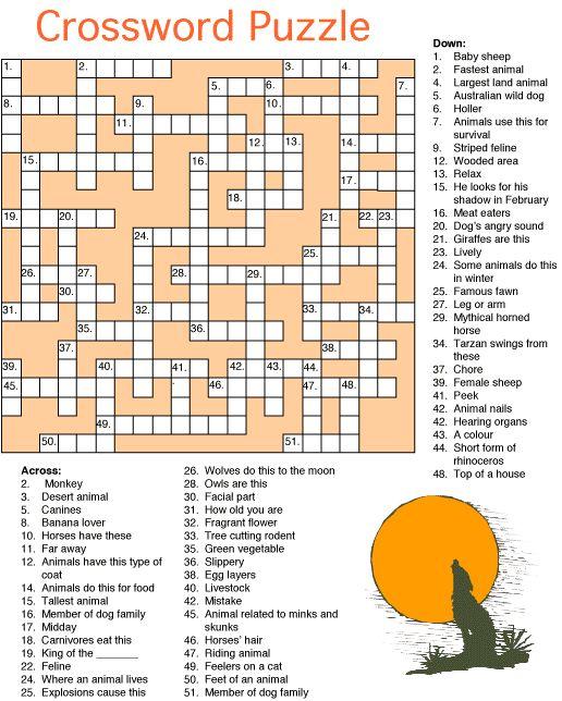 17 best activities images on pinterest abstract art tattoo angel animal crossword puzzle fandeluxe Images