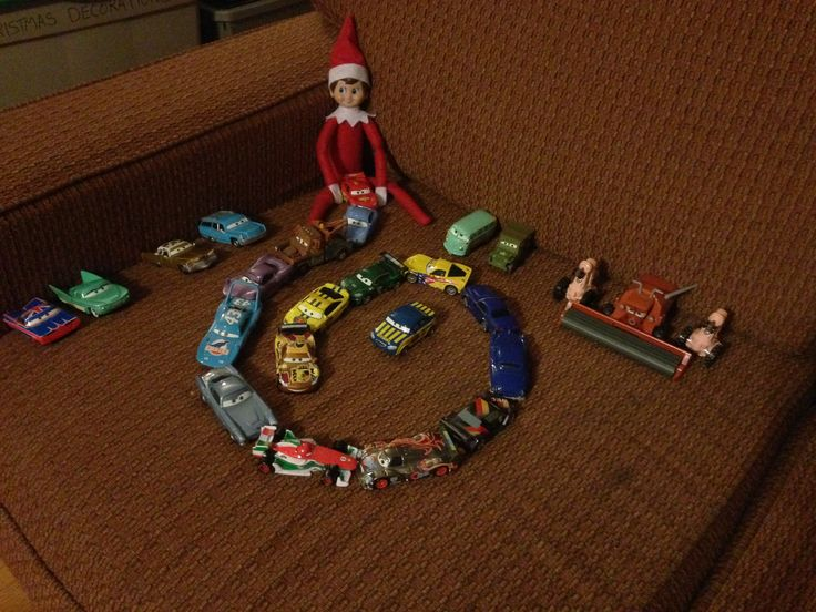 Day 15-Bernard is playing with all the Cars characters.