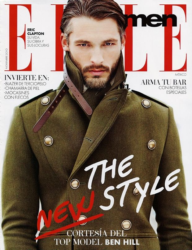 """Military style is evident in male dominated magazines as well, suggesting that military fashion is produced for men and women alike. For Elle to state that this model's look is """"The New Style"""" is ironic as designers are simply borrowing from old military fashion. Commodifying military style and profiting from its re-appropriated use provides consumers with a mediated form of militainment."""