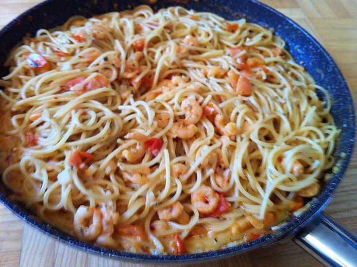 Pasta mit Knoblauch - Tomaten - Shrimps (Rezept mit Bild) | Chefkoch.de