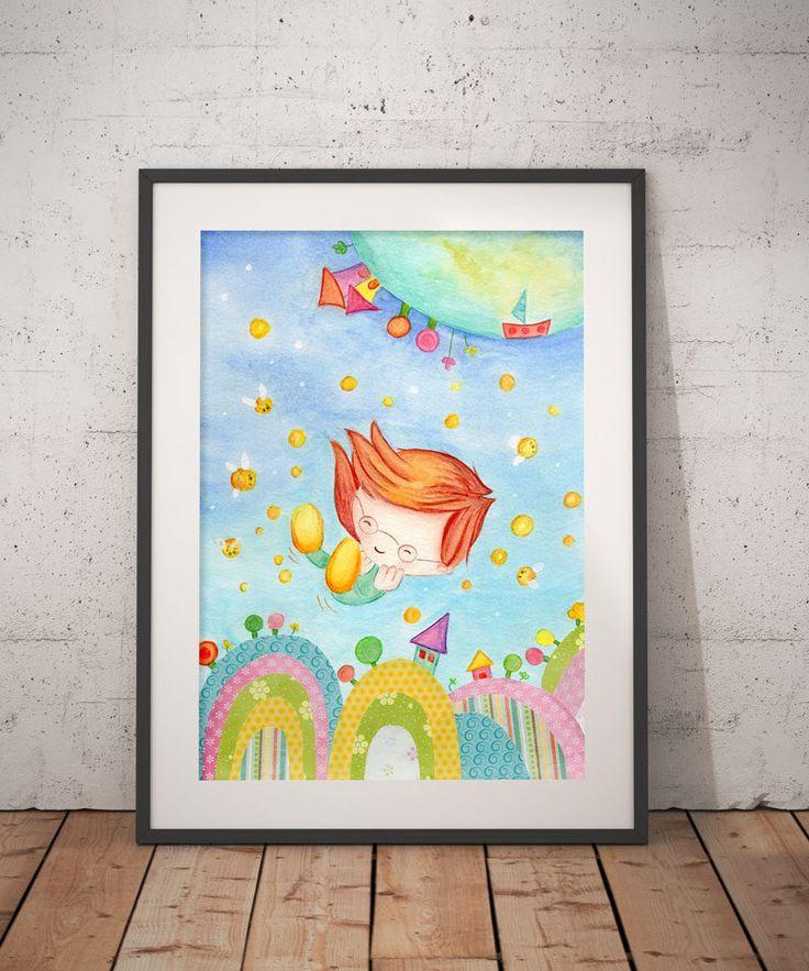 Boy Nursery Wall Decor, Kids Wall Art , Printable art, Girls room decor, Digital download, iron transfer by DreamBigArtDesign on Etsy