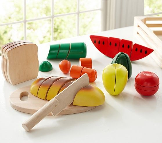 Toy food for cutting skills and play