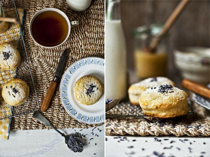Petit déjeuner en douceur // Scone à la lavande & lait d'amande