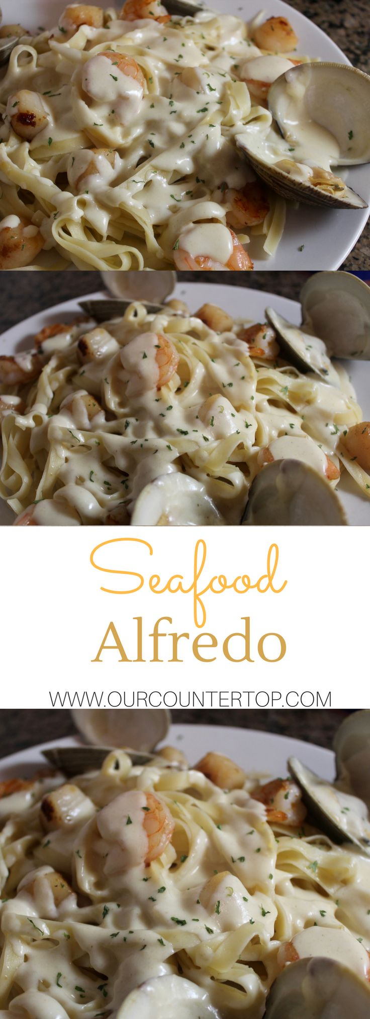 Seafood alfredo to try