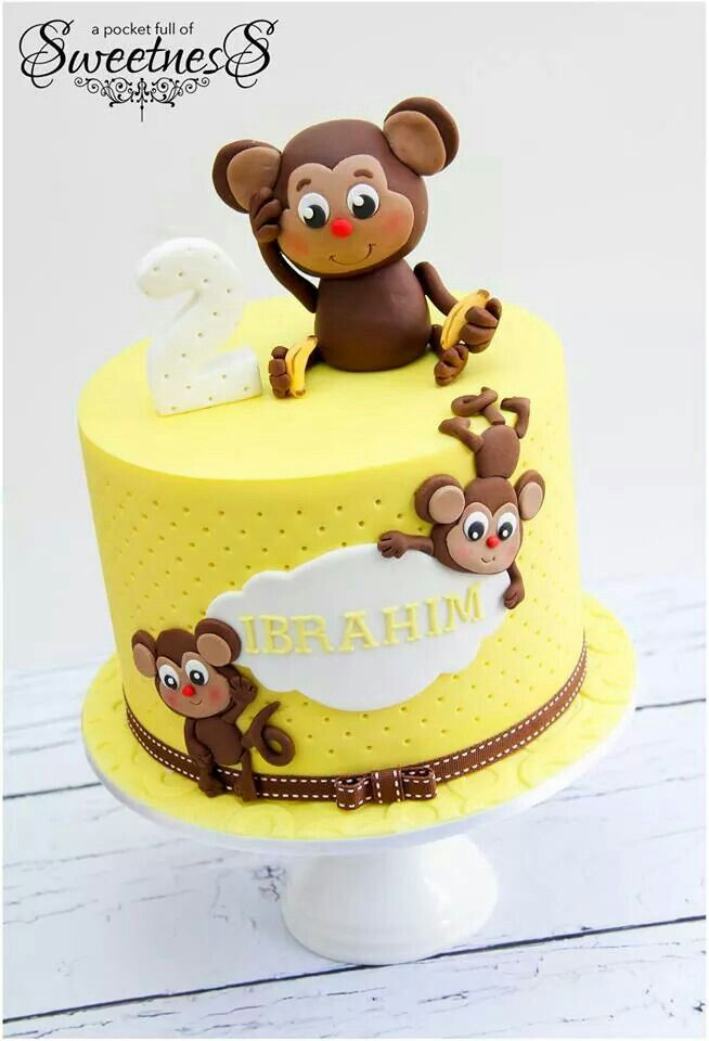 Birthday Cake Ideas Monkey : 1000+ ideas about Monkey Birthday Cakes on Pinterest ...