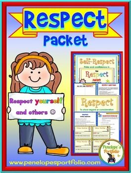 Teaching kids to be respectful and to have self-respect are very important life skills and virtues.  This Character Education Packet is filled with lessons teaching respect and is great for classroom management.  TEACHING SUGGESTIONFocus on the virtue of respect throughout the week.
