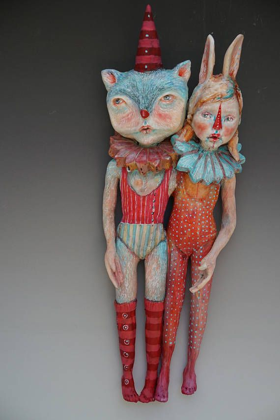 Comey and Me ceramic sculpture by artist Victoria Rose Martin