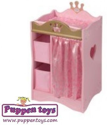 Wardrobe with top changer made of wood Baby Born ZAPF CREATION - Juguetes Puppen Toys