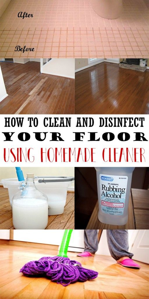 How To Clean And Disinfect Your Floor Using Homemade
